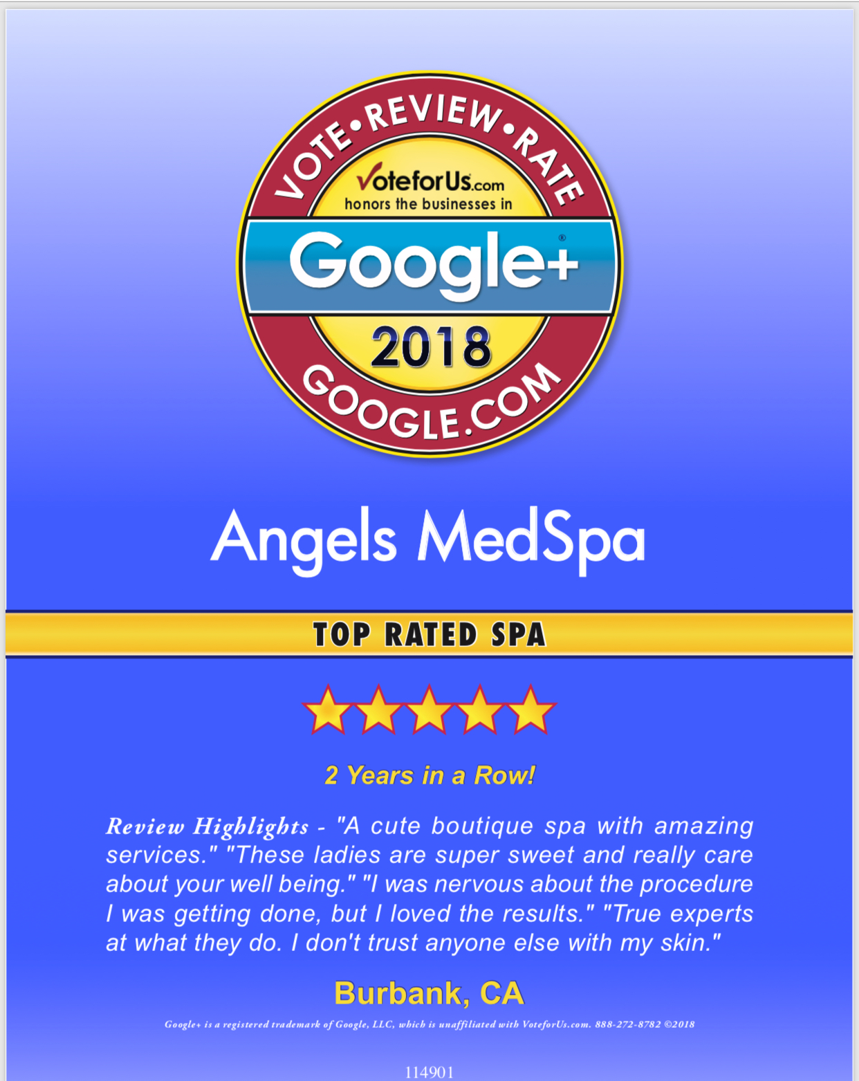 Top Rated MedSpa 2018!